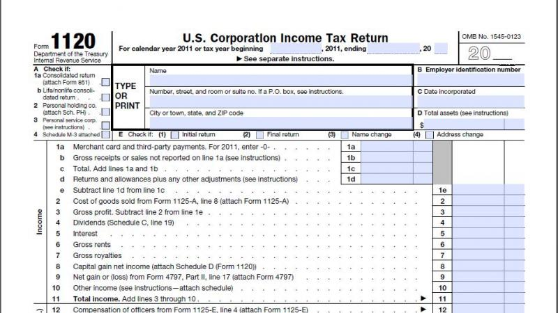DCarsonCPA Corporate Tax Services on Form 1120 + 1120S