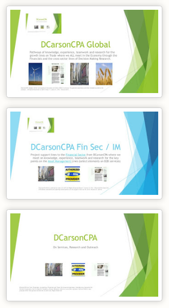 DCarsonCPA Domestic and Global Lines on the Economy and Financials + PIRI Lines
