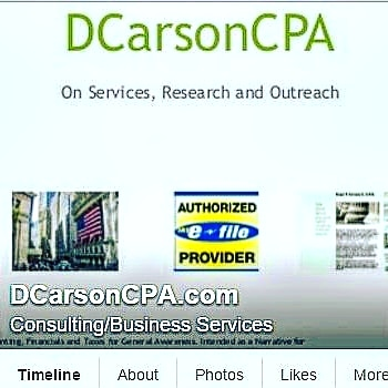 DCarsonCPA Accounting, Taxes, Financials, Analysis, Advisory, Analyst ++
