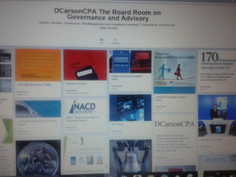 DCarsonCPA on Boards, Directors, Senior Executives and Corporate Governance