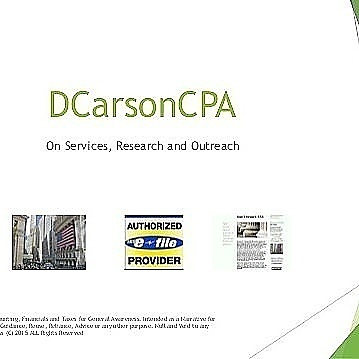 DCarsonCPA CFO CIO Project Management Business Analyst IT Analyst + Programming