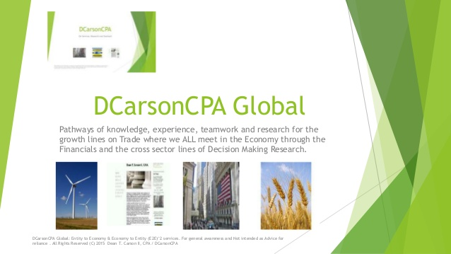 DCarsonCPA Global on Capital Markets Compliance lines SEC, CFTC, FINRA projects