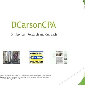 DCarsonCPA on Restaurants, Chef + Entertainment Lines - Financials + PR