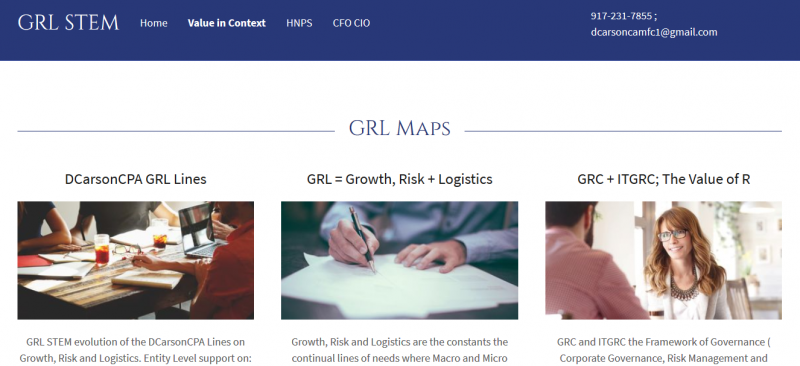 GRLSTEM, Value in Context, CFO, CIO, PM, BA, STEM, Analyst, Technology, ITGRC