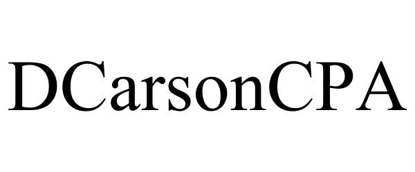 DCarsonCPA for Financial Decision Makers